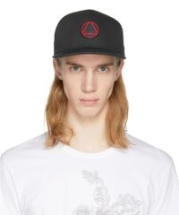 McQ - Black And Red Glyph Icon Baseball Cap - Lyst