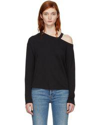 Rag & Bone - Black Long Sleeve Sky Cut-out T-shirt - Lyst