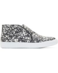 Pierre Hardy - Black And White Snakeskin Slip-on Trainers - Lyst