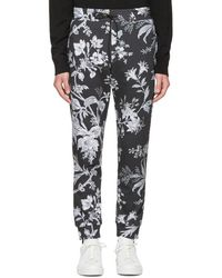 McQ - Grey Floral Lounge Trousers - Lyst