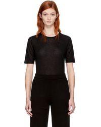 JOSEPH - Black Pure Cashmere T-shirt - Lyst