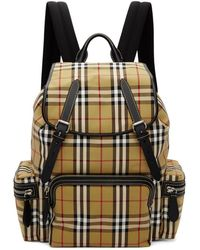 Burberry - Yellow Vintage Check Sailing Rucksack - Lyst
