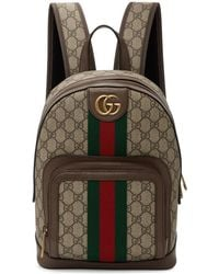 db31793d7874 Gucci - Brown Small GG Ophidia Backpack - Lyst