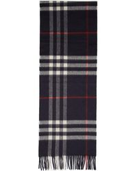 Burberry - Navy Giant Icon Scarf - Lyst