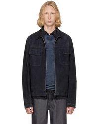 Missoni - Navy Suede & Wool Jacket - Lyst