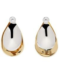 Charlotte Chesnais - Gold And Silver Mini Petal Earrings - Lyst