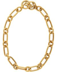 Fendi - Gold F Is Chain Necklace - Lyst