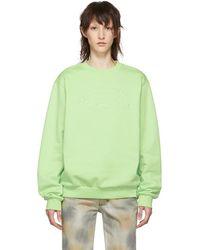 Martine Rose - Green Classic Sweatshirt - Lyst