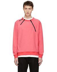 99% Is - Pink 3 Zip Sweatshirt - Lyst