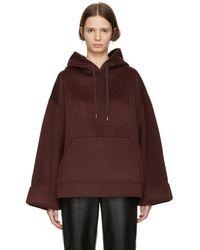 Nanushka - Burgundy Wool Luz Hoodie - Lyst