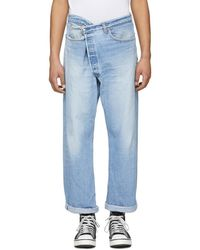 R13 - Blue Crossover Refurbished Jeans - Lyst
