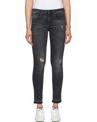R13 - Black Alison Skinny Jeans - Lyst