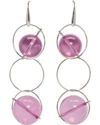 Marni - Silver & Pink Sphere Earrings - Lyst