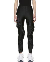 Comme des Garçons - Legging noir Zipped Protrusion - Lyst
