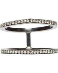 Repossi | Black Gold Pavé Diamond Double Antifer Ring | Lyst
