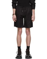 Alexander McQueen - Black Embroidered Shorts - Lyst