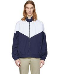 Noon Goons | Navy And White Mall Jogger Jacket | Lyst