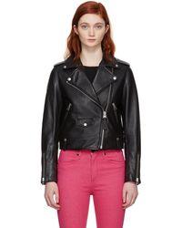 Mackage | Black Baya Moto Leather Jacket | Lyst