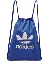 Adidas Originals | Blue Trefoil Gym Backpack | Lyst