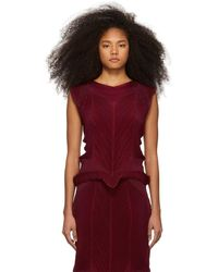 Issey Miyake - Red Seed Stretch Tank Top - Lyst