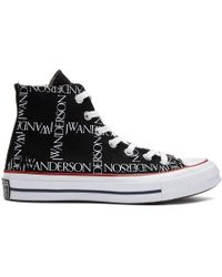 JW Anderson - Black Converse Edition Grid Logo Trainers - Lyst