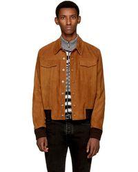 Saint Laurent - Brown Suede 'jean' Jacket - Lyst
