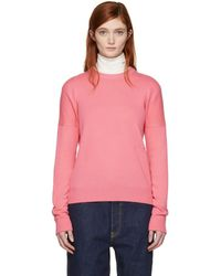 CALVIN KLEIN 205W39NYC - Pink Cashmere Small Logo Sweater - Lyst