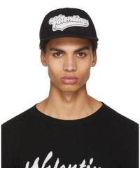 Valentino - Black Garavani Rookie Varsity Logo Pool Cap - Lyst