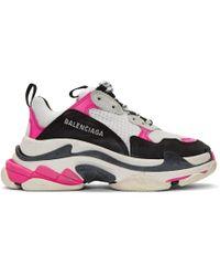 buono sconto migliore collezione grande selezione White And Pink Triple S Sneakers - Multicolor