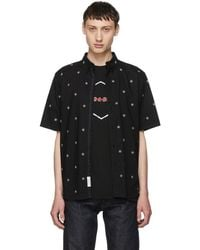Rag & Bone - Black Short Sleeve Smith Shirt - Lyst