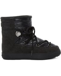 Moncler | Black Fanny Boots | Lyst