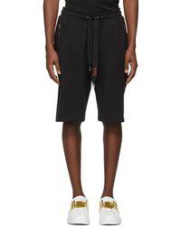 Dolce & Gabbana | Black Side Appliqué Sweat Shorts | Lyst