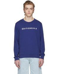 Éditions MR - Navy Logo Sweatshirt - Lyst