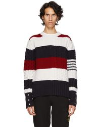 Thom Browne - Multicolor Funmix Four Bar Sweater - Lyst