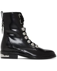 Toga Pulla - Black Studded Lace-up Boots - Lyst