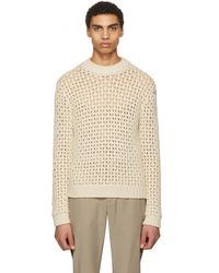 Acne Studios - Off-white Noailles Solid Jumper - Lyst