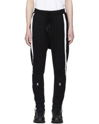 Boris Bidjan Saberi 11 - Black Logo Tape Lounge Trousers - Lyst