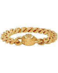 Versace - Bracelet a chaine et resine dore Medusa - Lyst