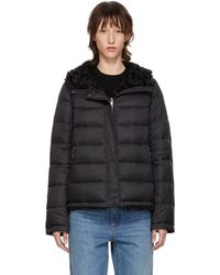 Army by Yves Salomon - Reversible Black Down Shearling Coat - Lyst