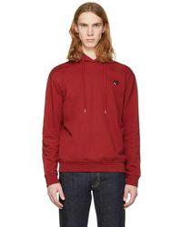 McQ Alexander McQueen | Red Swallow Badge Clean Hoodie | Lyst