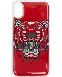 KENZO - Red 3d Tiger Iphone X Case - Lyst
