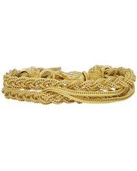 Emanuele Bicocchi - Gold Double Braided Bracelet - Lyst