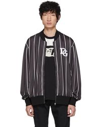 Dolce & Gabbana - Black And White Dg Track Jacket - Lyst