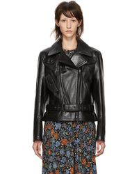Acne Studios - Black Leather Boxy Jacket - Lyst