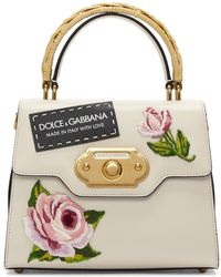 Dolce & Gabbana - Pink And Black Small Embroidered Welcome Bag - Lyst