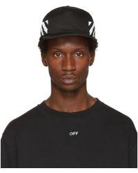 Off-White c/o Virgil Abloh - Black Diagonal Brushed Cap - Lyst
