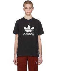 adidas Originals - Black Trefoil T-shirt - Lyst