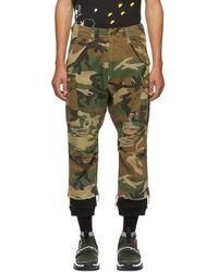 R13 - Green Camo Harem Cargo Trousers - Lyst