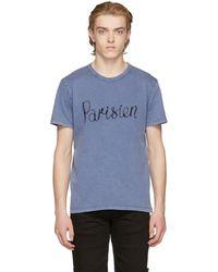 Maison Kitsuné - Blue Parisien T-shirt - Lyst