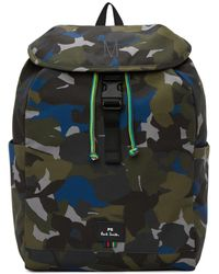 PS by Paul Smith | Green Camo Backpack | Lyst